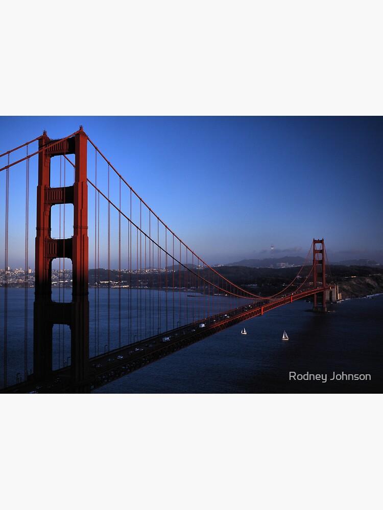 Golden Gate Bridge at Sunset by rodneyj46