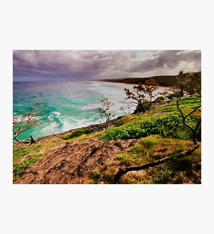 Stradbroke Island Point Lookout - On Coming Storm Photographic Print
