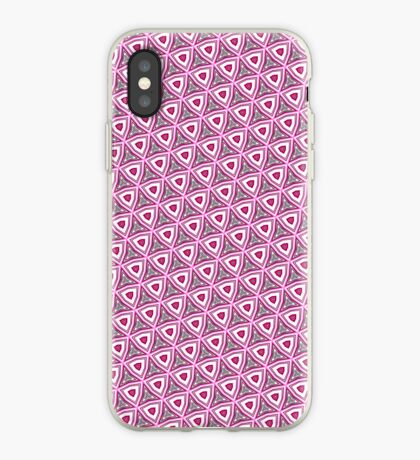 Pink funky pattern iPhone case iPhone Case