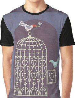 Leaving the Birdcage Graphic T-Shirt