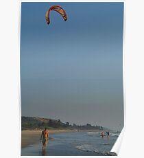 Kitesurfing at Mandrem Poster