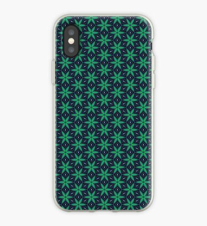 Green and Navy star pattern iPhone case iPhone Case