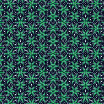 Green and Navy star pattern iPhone case by InspiraImage