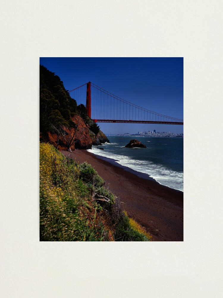 Alternate view of Golden Gate Bridge and San Francisco Skyline Photographic Print