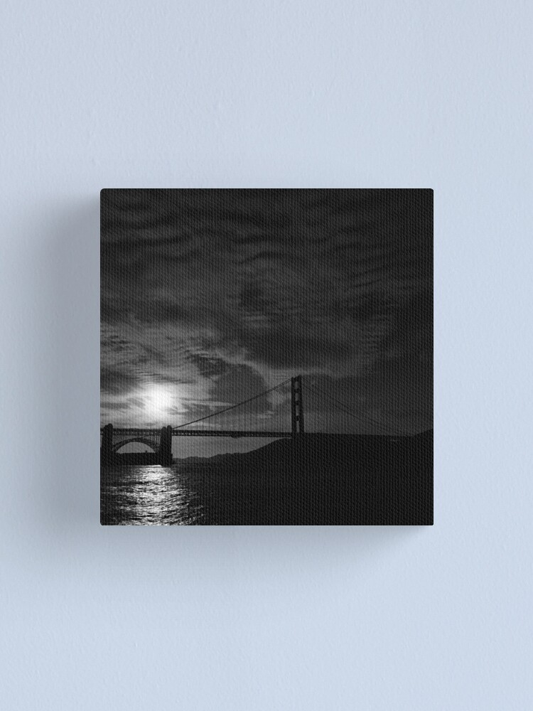 Alternate view of Golden Gate Bridge at Sunset Canvas Print