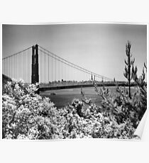 The Golden Gate Bridge from Battery Wagner Poster