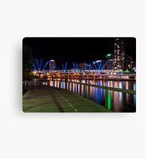 Night cityscape South Bank Brisbane  Canvas Print