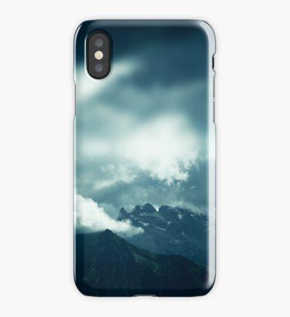 Clouds over Drusenfluh iPhone Case/Skin