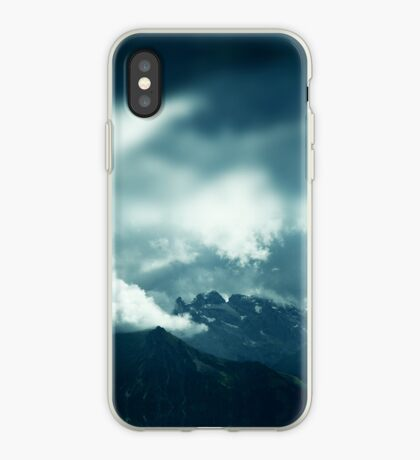 Clouds over Drusenfluh iPhone Case