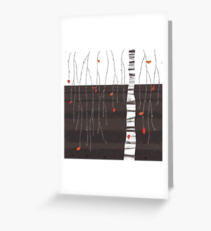 the last of the leaves Greeting Card