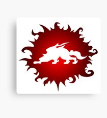 Okami: Red and White Canvas Print
