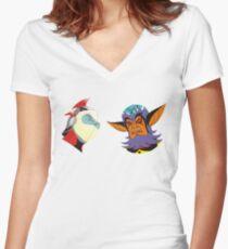 Vega & Actarus Women's Fitted V-Neck T-Shirt