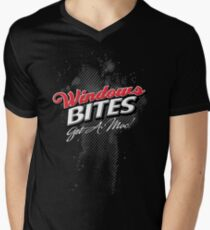 Windows Bites - Get a Mac!  |  for Dark Colors Mens V-Neck T-Shirt