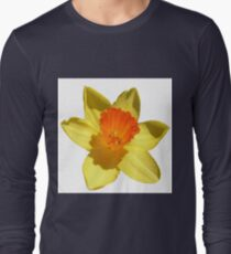 Daffodil Emblem Isolated On White Long Sleeve T-Shirt