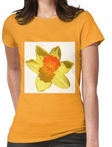 Daffodil Emblem Isolated On White Womens Fitted T-Shirt