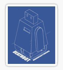 Curiosity bot - line art Sticker