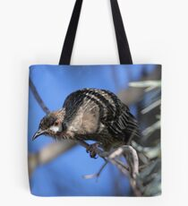 Red Wattle Bird Tote Bag