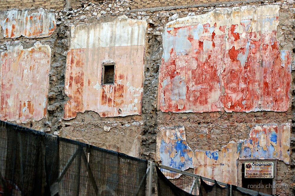 The Wall....Athens Greece by ronda chatelle