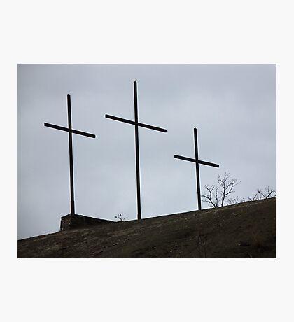 Località TRE CROCI - in onore a Gesù Cristo....ITALY. RB EXPLORE 10 GENNAIO 2013- Photographic Print