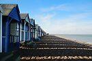 Beach Huts at Herne Bay by Nigel Bangert