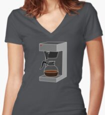 Coffee Monkey - Filter Coffee Women's Fitted V-Neck T-Shirt