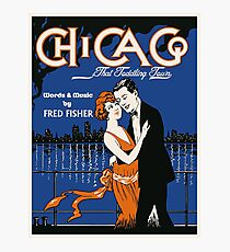1920s style dancing couple, Chicago music Photographic Print