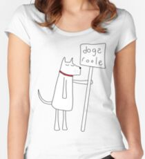 Dogs Roole Women's Fitted Scoop T-Shirt