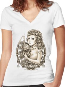 Winya No. 34 Women's Fitted V-Neck T-Shirt