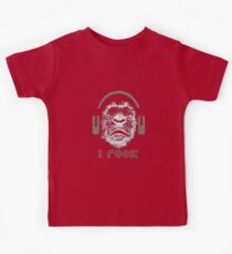 Gorilla Wearing Headphones With Disco Text i rock Kids Clothes