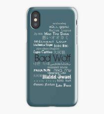 B A D W O L F iPhone Case