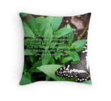 Joshua 1:9 Throw Pillow