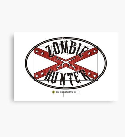 Zombie Hunter flag Canvas Print