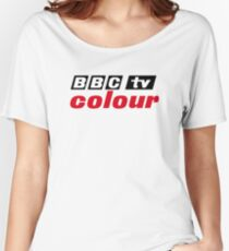 Retro BBC colour logo, as seen at Television Centre Women's Relaxed Fit T-Shirt