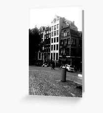 Amsterdam in Black and White Greeting Card