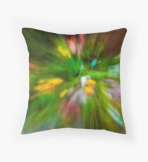 Rainy Day: Tulips, Zoomed Throw Pillow