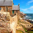 Anstruther Coastline with Baptist Church by ©The Creative  Minds
