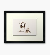 Campfire Lady Framed Print