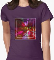 Rainy Day: Tulips, Zoomed Womens Fitted T-Shirt