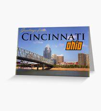Greetings From Cincinnati Ohio Greeting Card