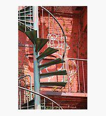 Fire Escape and Graffiti Photographic Print