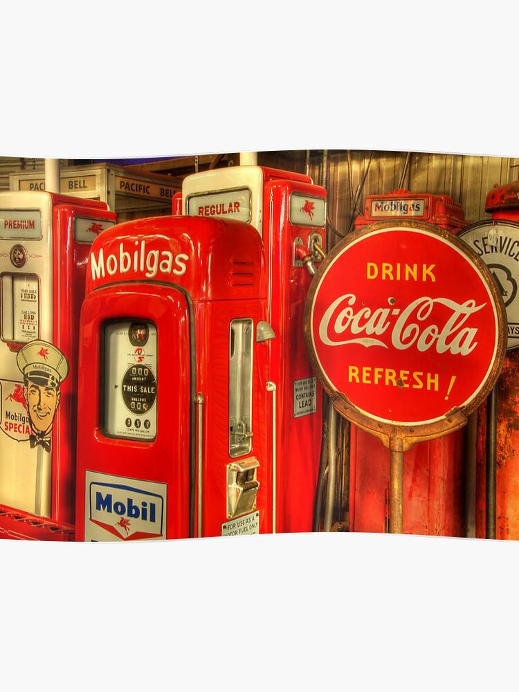 Vintage Gas Pumps | Poster