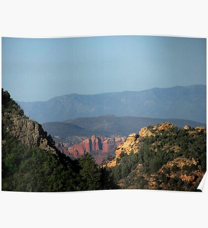 Red Rocks from Schnebly Road - AZ Poster