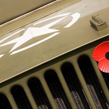 US Army Jeep With Poppy by melmoth
