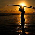 Surfer Costa Rica by Bob Christopher
