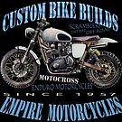 MOTORCYCLE SCRAMBLER T SHIRT DESIGN by JohnLowerson