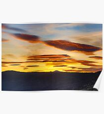 Sunset from Susanville, California Poster