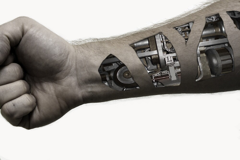 Cybernetic Arm (desaturated) by WDaRos714