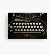 Vintage Typewriter Keyboard Canvas Print