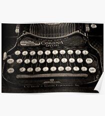 Vintage Typewriter Keyboard Poster