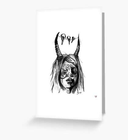 delightfully angry Greeting Card